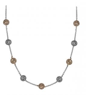 Dual-Tone Ball Necklace