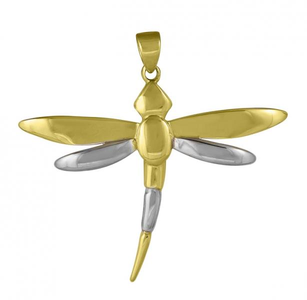 [Image: <em> 10K Bi-Colored Dragonfly Pendant; $166 </em>]