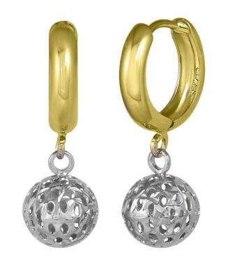 <em>Gold Ball Earrings</em>