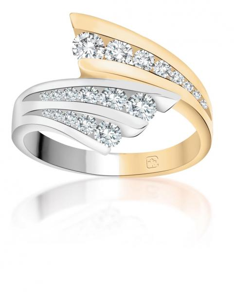 <em> 14K Gold and White Gold Diamond Ring; $1499 </em>