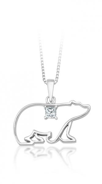 10k polar bear necklace with diamond necklaces pendants gallery 10k polar bear necklace with diamond aloadofball Images