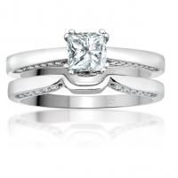 <em>14K Engagement Ring with Princess Cut Diamond; 0.55 ct, 0.72 tw; $2677</em>